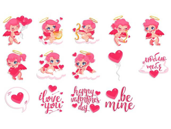 Love You Stickers Pack for Telegram