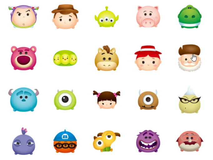 Pixar Animations Emoji
