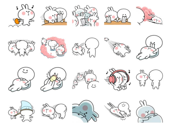 Spoiled Rabbit 4 Stickers Pack for Telegram