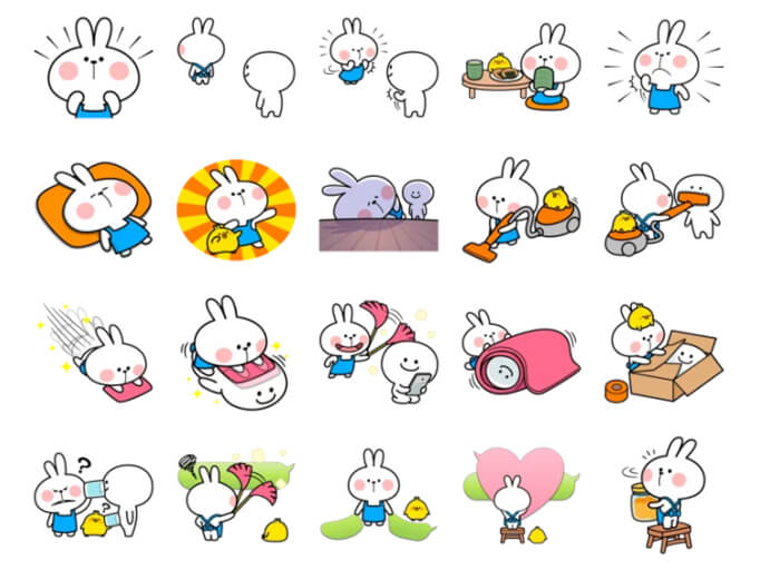 Spoiled Rabbit Apron Stickers Pack for Telegram