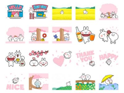 Spoiled Rabbit Spring Stickers Pack for Telegram