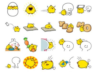 Plump Little Chick Stickers Pack for Telegram