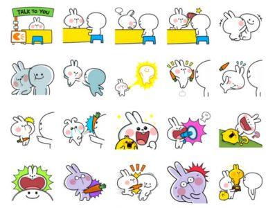Spoiled Rabbit 6 Stickers Pack for Telegram