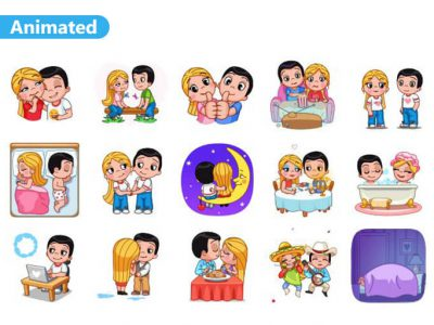Love Is Animated Stickers Pack for Telegram